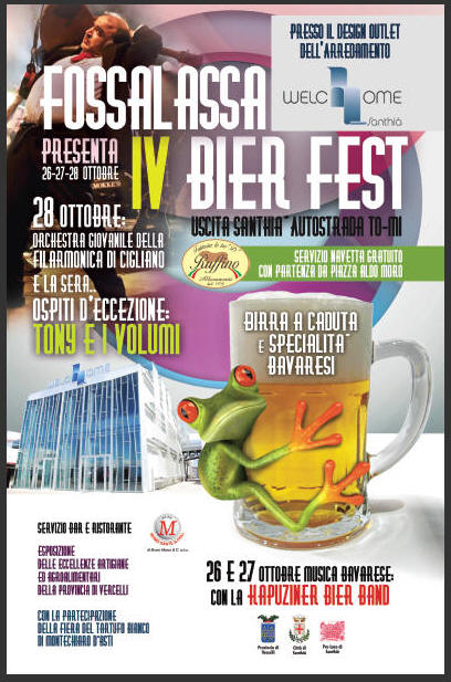 Bier fest di santhi sceglie welchome il for Outlet del design