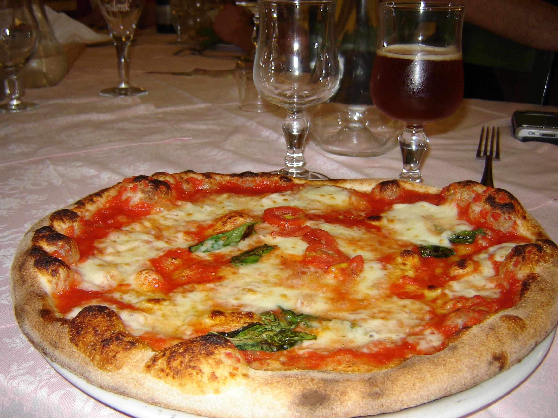 первая пицца Маргарита
